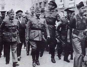 Els generals FranCo i Emilio Mola, caps de la rebel·lió militar-feixista de 1936