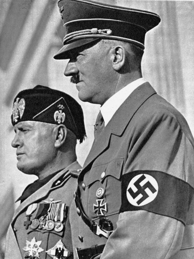 Hiler y Mussolini